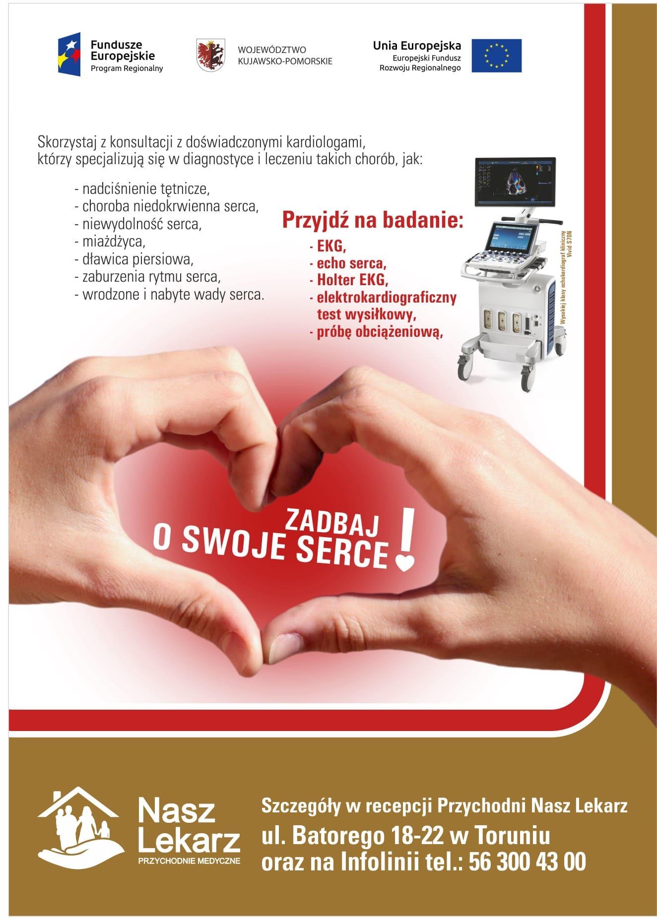 EKG - zadbaj o swoje serce razem z przychodniami medycznymi Nasz Lekarz